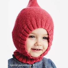 图文详解儿童棒针围脖帽编织方法