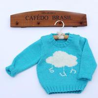 儿童棒针云朵图案毛衣编织视频教程(2-2)