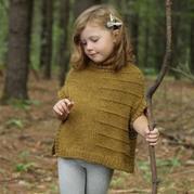 棒针儿童英伦高领两片式系扣斗篷