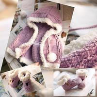 绒线边钩针宝宝斗篷宝宝鞋套装编织视频(2-1)连帽斗篷的钩法