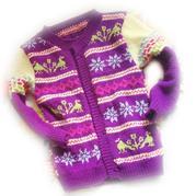 图文详解2-3岁儿童提花开衫毛衣编织方法