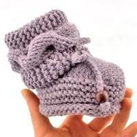 高筒麻花棒针宝宝鞋编织视频教程(2-1)鞋底的编织