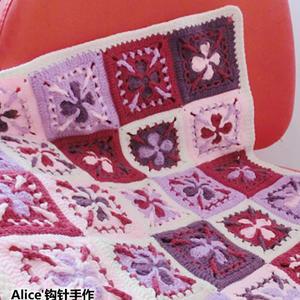 洛丽塔克罗心钩针婴儿拼花毯