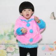 绒绒线儿童时尚棒针小披风编织视频