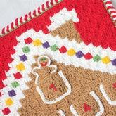 趣味对角线钩针姜饼日历壁挂 2016圣诞编物