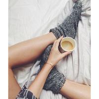 这个冬天你没有一双外穿毛线袜,还过毛个冬天啊
