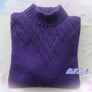 女士棒针中老年羊绒套头衫 送老妈暖冬毛衫