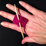 零线编织可以戴在手指上的棒针小工具收纳