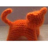 极简毛线编织玩偶 棒针织片巧制小猫