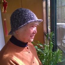 中老年冬季钩针毛线帽