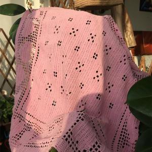 新手也可以轻松完成的全长针心形花样钩针毯子
