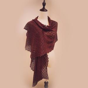 梦想编织机机织女士镂空花流苏羊绒长围披 银笛280作品