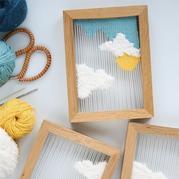 手工DIY折出编织小作品的装饰相框
