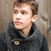 小扣子大用途 实用时尚冬季多功能扣子围巾