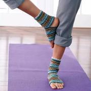棒针编织瑜伽袜子图解翻译教程