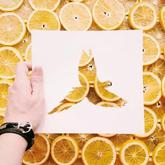 古老的中国剪纸,被他带进大自然,玩出了美丽新高度!