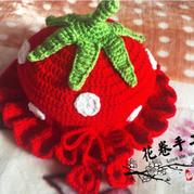 图文详解可爱儿童钩针草莓帽的钩法
