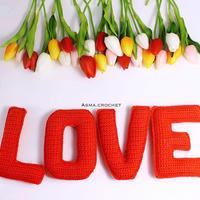 居家节日装饰玩具编织用钩针立体字母(26个钩针英文字母)