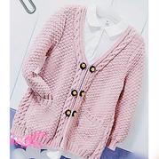 雪妃尔牛奶棉棒针儿童外套开衫毛衣