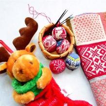 浓浓圣诞风棒针编织圣诞球