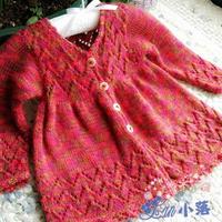 手工編織寶寶裙式棒針開衫