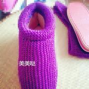 供新手学习的中帮棒针棉鞋图文教程