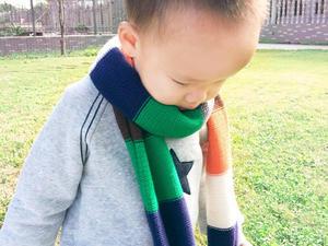 快乐编织机LK150机织童年彩条围巾编织视频教程