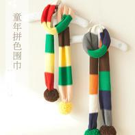 云棉2儿童棒针拼色围巾编织视频教程