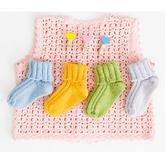 婴儿棒针松口羊毛袜编织视频教程