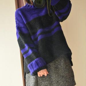 仿淘宝慵懒范女士粗针织羊毛套衫
