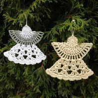 钩针编织圣诞装饰安琪儿挂件