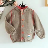 适合80-90cm宝宝的字母绣儿童棒针外套