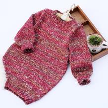 儿童棒针夹花长款毛衣编织视频教程(2-1)