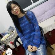 家用编织机机织时尚女士镂空花毛衣 银笛280作品