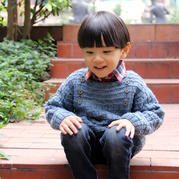 云点韩式儿童棒针男童毛衣