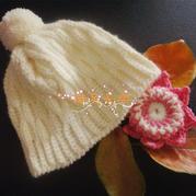 片钩冬日实用保暖女士钩针帽子
