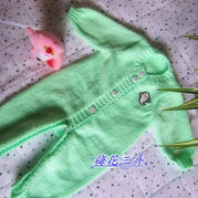 图文详解棒针婴幼儿连体衣编织方法
