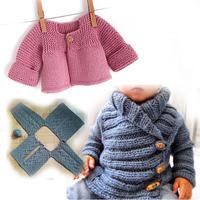 看圖就可以輕松織的歐美嬰幼兒開衫毛衣