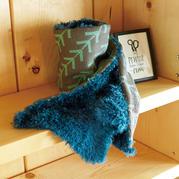 漂亮实用秋冬时尚保暖提花毛绒棒针围巾