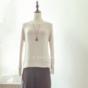 云绒叁柒简洁时尚棒针女士羊绒羊毛衫