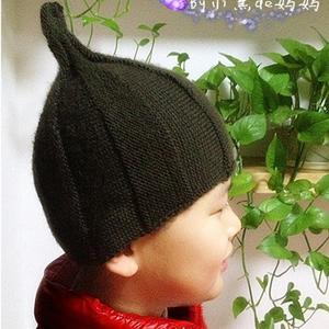 2016新款横织儿童棒针奶嘴帽
