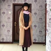 流行风时尚女士棒针宽松羊驼大衣