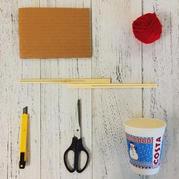 纸杯筷子毛线轻松打造温馨小台灯
