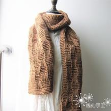 新手也可以轻松织的粗针织棒针格纹围巾