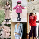 201701期周热门编织作品:时尚手编成人儿童毛衣10款