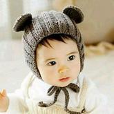 可爱小熊棒针宝宝护耳帽编织视频教程