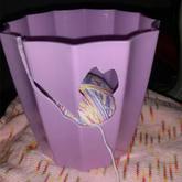 塑料花盆巧改实用漂亮毛线碗