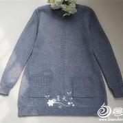 休闲时尚牦牛绒女士棒针宽松毛衣