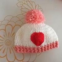 可爱红心钩针宝宝帽子编织视频教程