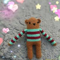 结构钩法简单的钩针玩偶熊
